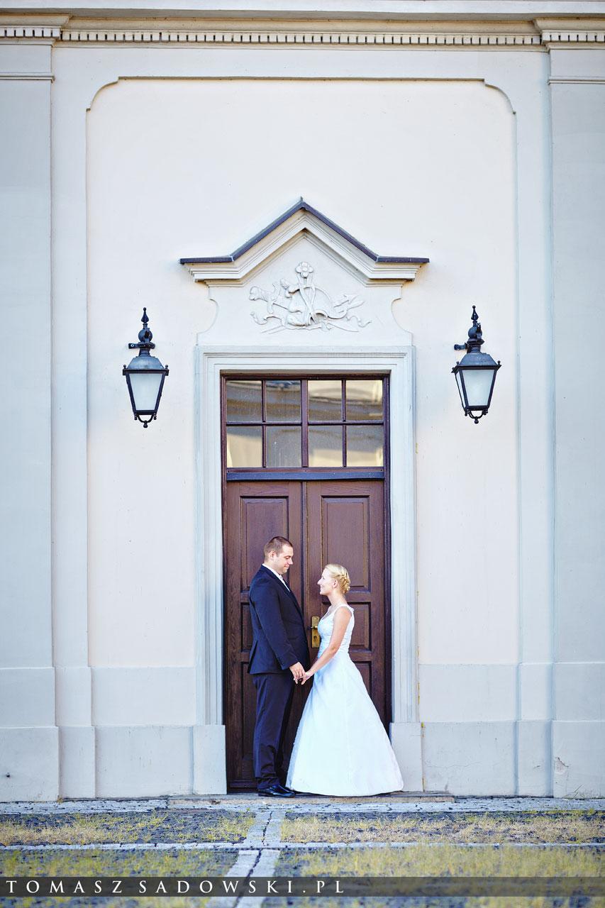 plener ślubny Pałac Pod Blachą