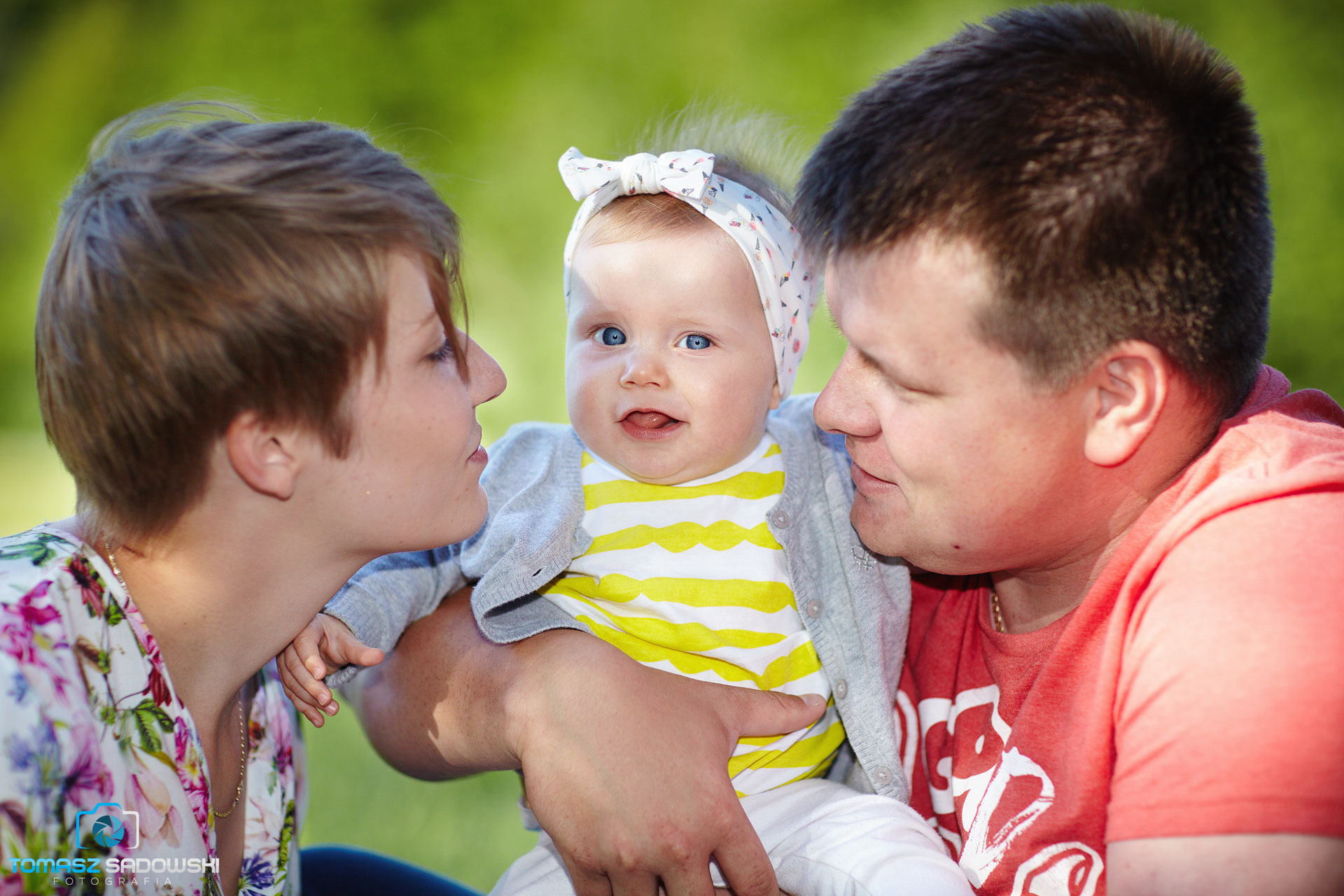 Sesja rodzinna w parku Szczęśliwickim